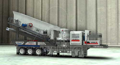 Mobile crushing plants applied in quarries