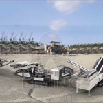 mobile quarry plant in stone production line