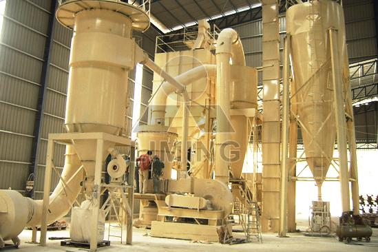 Dry grinding mill plant from bentonite production