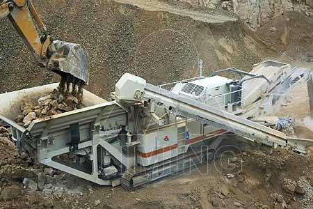 High capacity of 200 600T/H complete mobile crusher plant