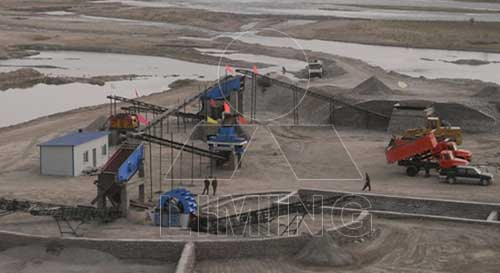 crushing,screening and washing plant for iron ore