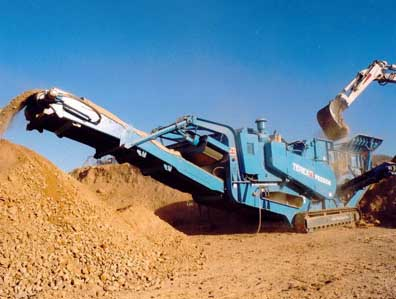 Terex pegson Tracked mobile crushers type