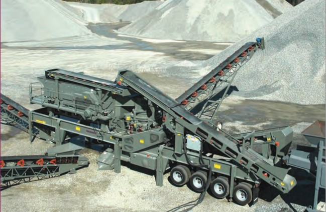 Telsmith portable cone crusher plant for specific plant layouts