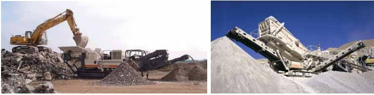 CAT mobile crusher for high production mining