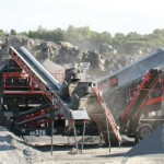 Wheeled mobile crushing & screening unit with unrivalled crushing capacity