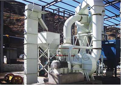 Raymond Mill system with fly ash drying principles