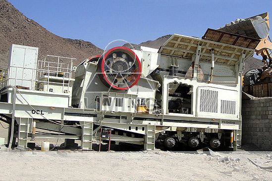 mobile concrete plant with portable closed loop crushing system