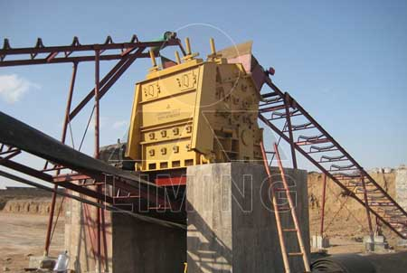 secondary impact crusher for iron ore crushing plant