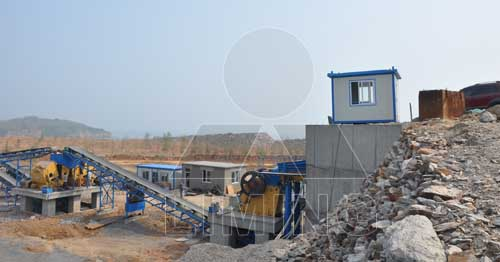 Primary & secondary crusher in limestone processing plant