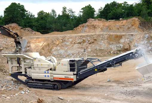 mobile rock pulverizing plant application