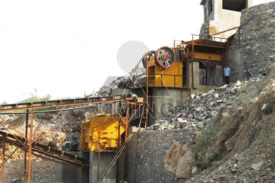 Quarry crushing plant design data and layout