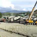 stone crushing screening plant for concrete aggregate