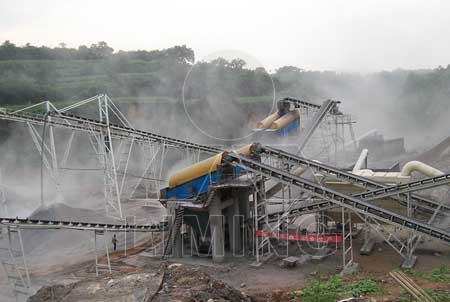 concrete debris disposal crushing plant