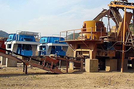 sand & gravel crushing and recycling plant