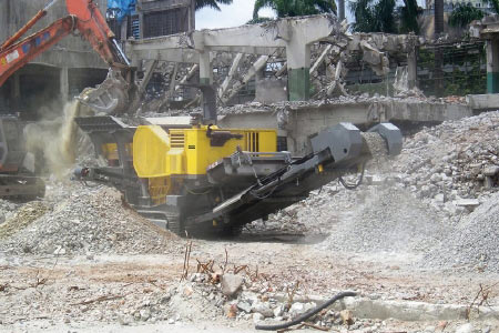Design in construction waste disposal crushing plant