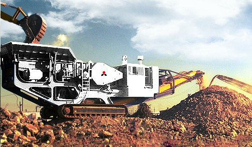 crawler type stone crusher machine with high capacity