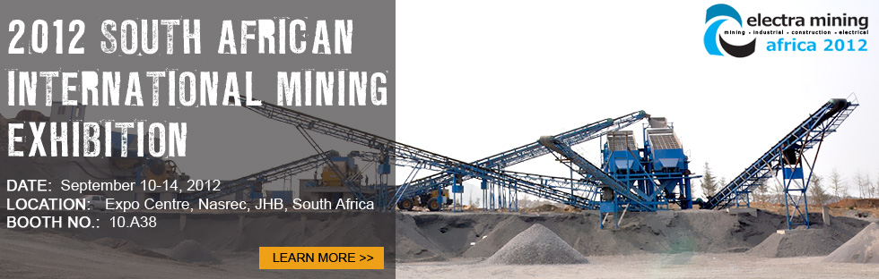2012 South African international mining exhibition(ELECTRA MINING AFRICA)