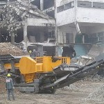 wheeled micro construction aggregate crushing plant