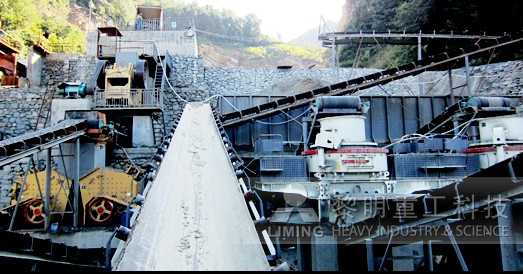 Aggregates production solution in concrete mixing station