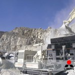 Crushed mine tailing used for construction materials