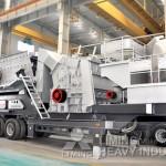 LT213 Track mobile impact crusher in Nigeria
