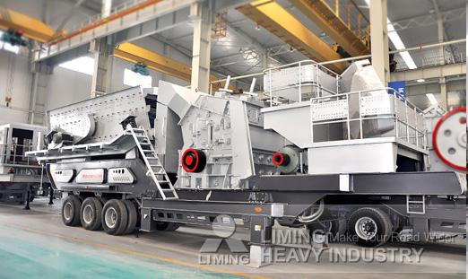 LT213 Track mobile impact crusher in Nigeria