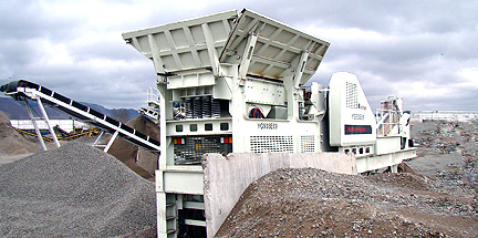 Wheel mounted crushing plant for recycling,quarrying, aggregate plant
