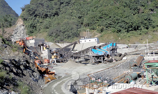 700-800 TH limestone crushing plant project report