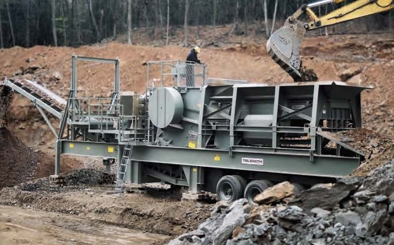 Used Telsmith 2044 rock crusher for sale in mt